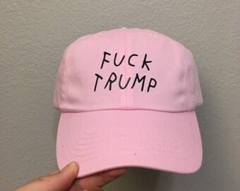 Black Fuck Trump Visor HatFuck Hillary dad Hats cap Hat  4cbb0e698ca2