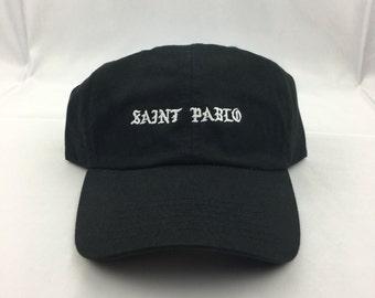 Black Kanye Embroidered - Saint Pablo dad Hat cap db98e77c5a9a