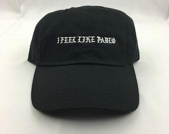 b536d1489e4 Black Kanye Embroidered - I Feel Like Pablo dad Hat