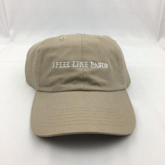 1f370151c92 Tan Kanye Embroidered I Feel Like Pablo Dad Hat cap Kanye