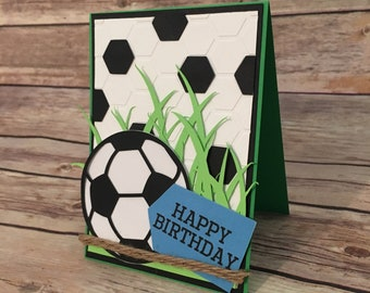 soccer birthday card etsy