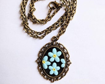 Lil Forget-Me-Not Flower Pendant
