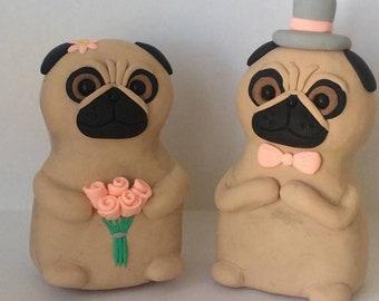 Lil Pugs Wedding Topper