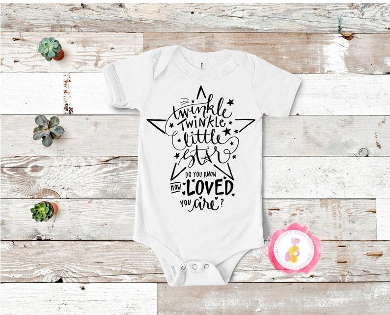 Twinkle Twinkle Little Star Surrogate Customizable Baby Bodysuit Surrogacy