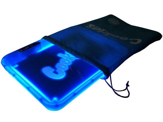 BLUE LED Rolling Tray Authentic New Glow Tray Glowtray x COOKIES SF