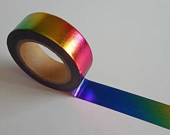 Washi Tape/ Craft Tape- Oil Slick, Holographic