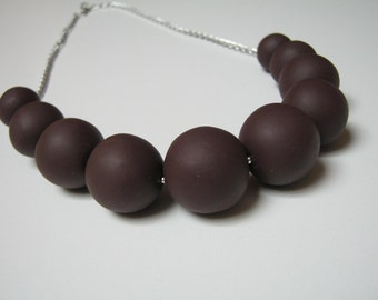 Chocolate Necklace Fimo Matt