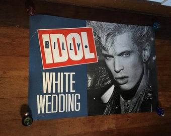 ORIGINAL ROLLED ROCK PROMO POSTER BILLY IDOL 1982