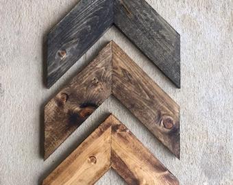 Wall Art 3 Piece Chevron, Rustic Unique Home Décor, Wooden , Wooden Chevron, Hanging Wood Arrow (3 piece)