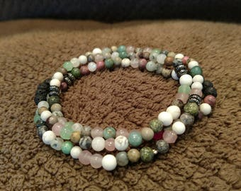 Free Shipping! Natural Gemstone Diffuser Bracelet- Relaxation-