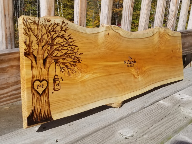 TREE DESIGN: Personalized Wedding Guest Book Alternative image 0