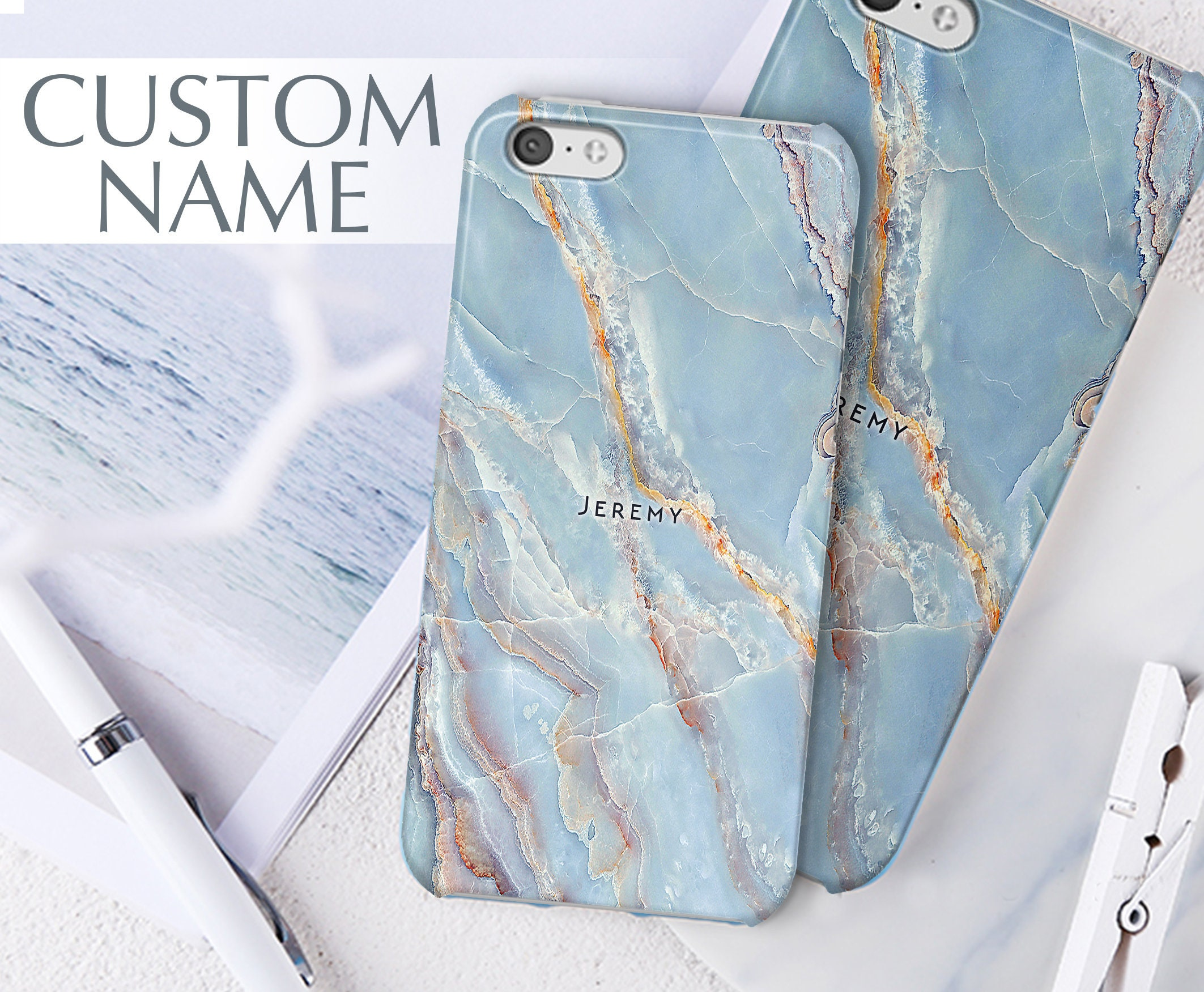 new products 3581c cdd7a Sony Xperia Z5 case, BLUE marble, sony z5 premium case, sony xperia z5  compact case, sony xperia xz premium case, sony xperia xa1 case 154