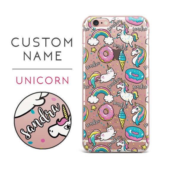 Iphone 8 Case Clear Personalized Iphone 7 Plus Case Cute Etsy