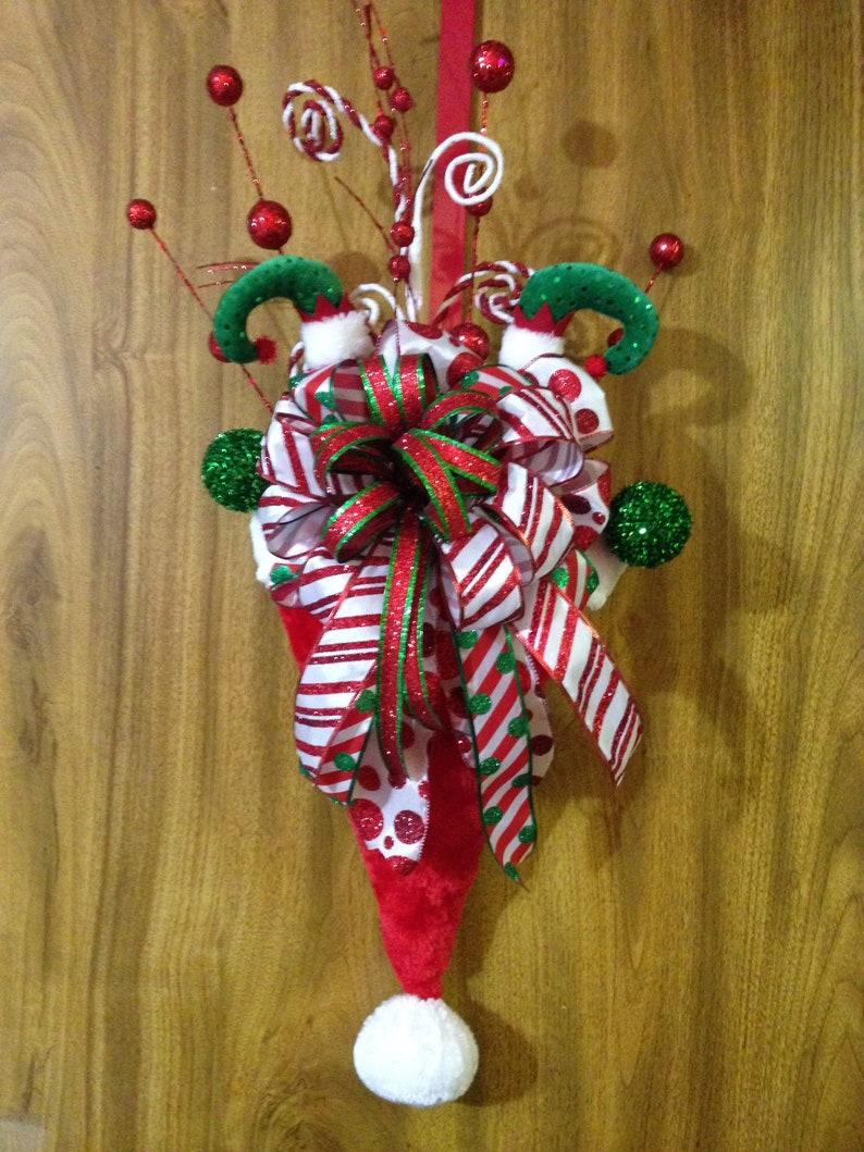 55759416172b4 Christmas Santa Hat Door Hanger