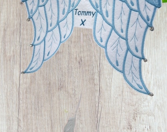Memorial Hanging Angel Wings, Baby Loss Comfort Gift, In Memory Personalised Gift, Feathered Angel Baby Bereavement, Infant Sympathy Gift