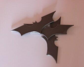 BATMAN: Dark Knight style batarangs (Set of 3 PLASTIC)