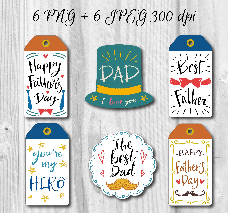 6 Vatertag Geschenk Etiketten des Vaters Tags Vatertag | Etsy
