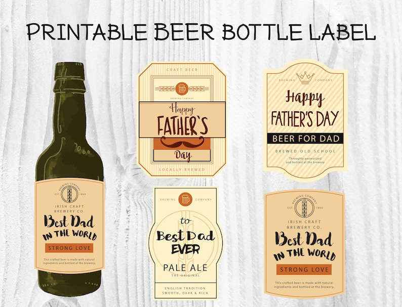photo regarding Printable Beer Bottle Labels titled 4 Options Fathers Working day Beer Bottle Label, Fathers Working day Social gathering Beer Bottle Sticker, Reward for Father, Beer for Father, Bottle wrapper