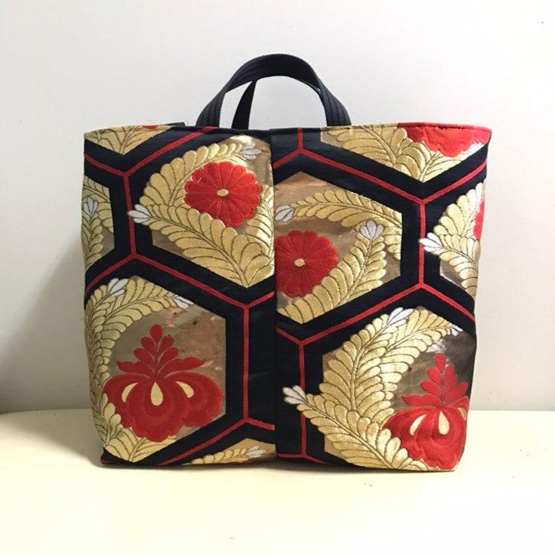 b1cdd86a5c83 Big tote bag Japanese Kimono tote bag Obi bag Kimono