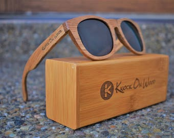 0495737e6048 Walnut Wood - Polarized Bamboo Sunglasses for Men and Women