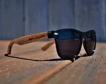 Classic Wood V2 - Polarized Bamboo Wayfarer Sunglasses for Men and Women