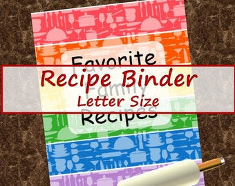 Recipe Binder -- Colorful