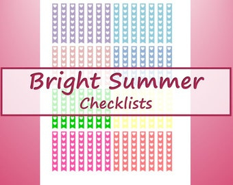 Bright Summer Checklists