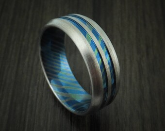 Moku-ti ring with heat treatment custom made band
