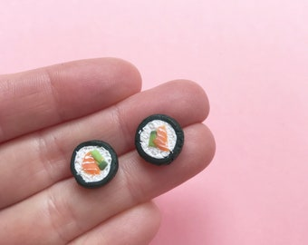 Scented Sushi Roll Earrings or Pendants - Your favourite miniature Japanese food that you can wear!