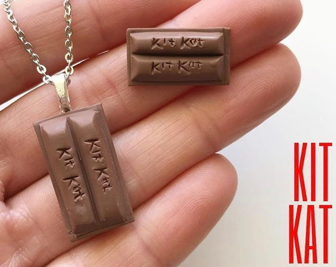 Chocolate Scented Kit Kat Earrings, Pendant or Brooch - Classic International treat
