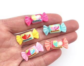 Sweet Retro Bon Bon Candy Earrings fixed to Surgical Stainless Steel Studs - A Classic International Sweet!