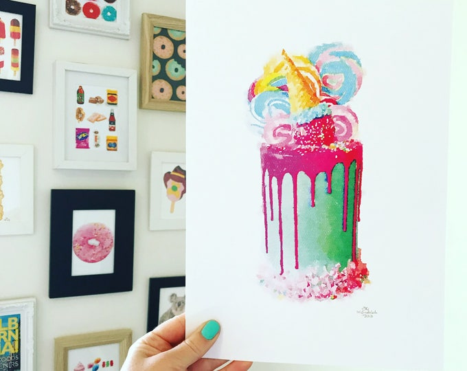 Iconic Katherine Sabbath Cake Inspired Print. A4 Size Designed and Printed in Australia.