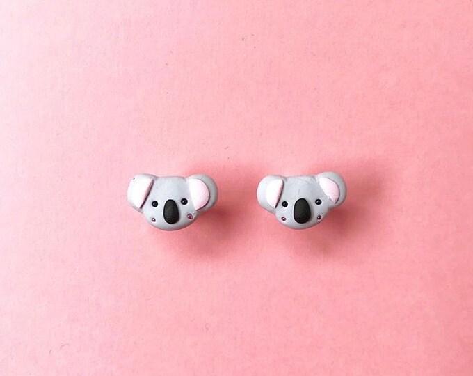 Suki McMaster x Originals Lab Handmade Koala Bear Stud Earrings