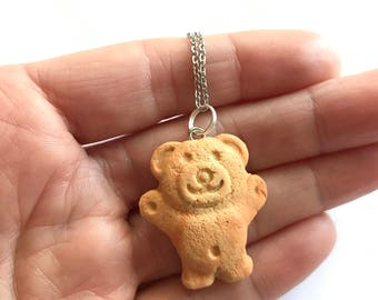 Vanilla Scented Tiny Teddy Pendant or Earrings - An Iconic Australian Biscuit!