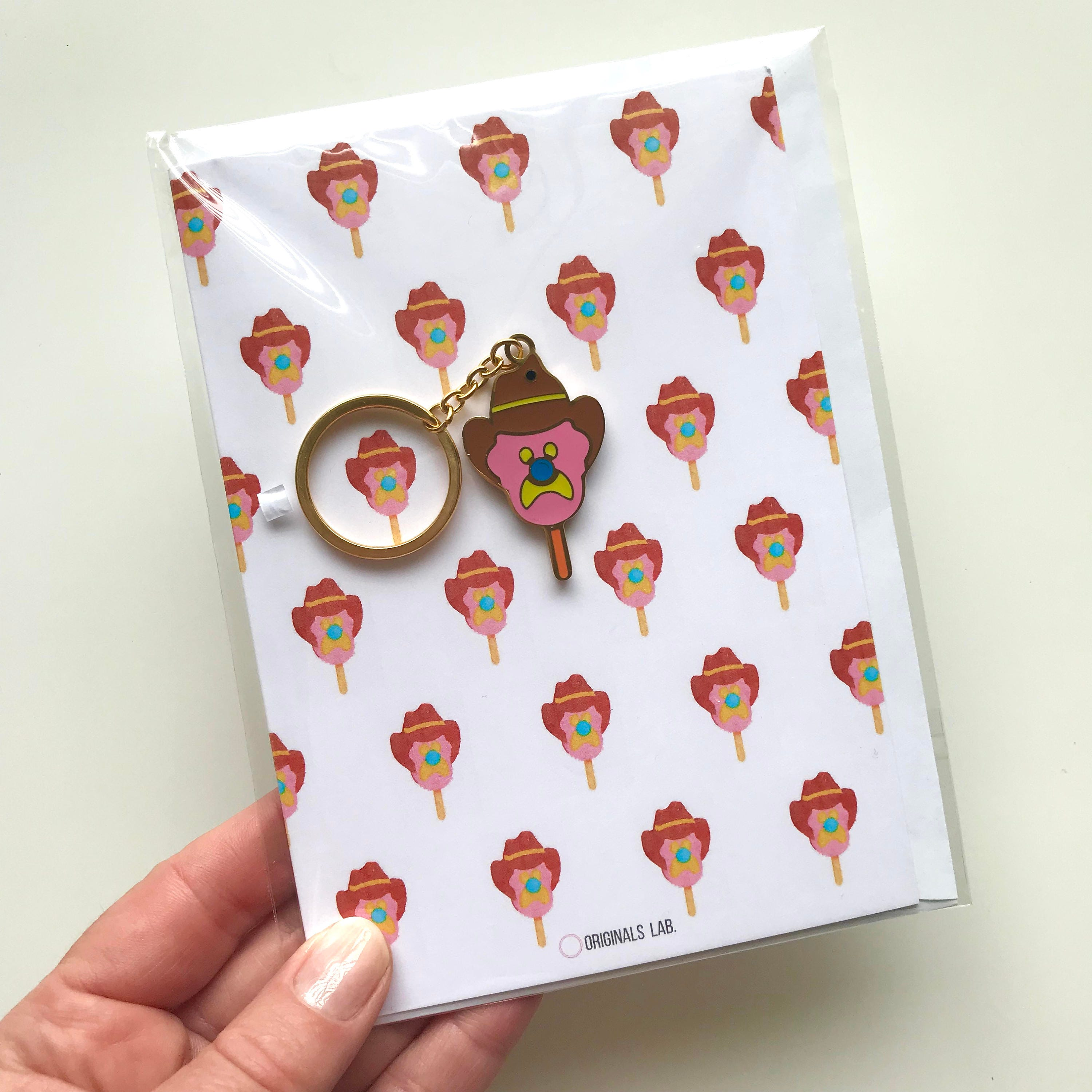 Iconic Australian Bubble O Bill Greeting Card And Keyring Plated