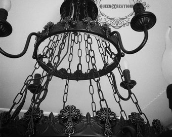 Gothic chandelier etsy aloadofball Gallery