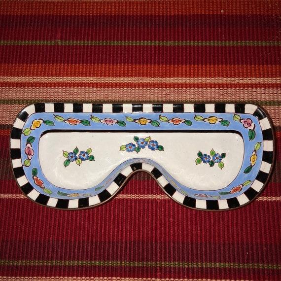 Vintage Kevin Chen Eyeglass Holder, Copper Enamel,