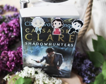 Infernal Devices - Magnetic bookmarks - Will, Tessa, Jem || shadowhunter, book lover gifts, clare, clockwork angel, parabatai, bookmark