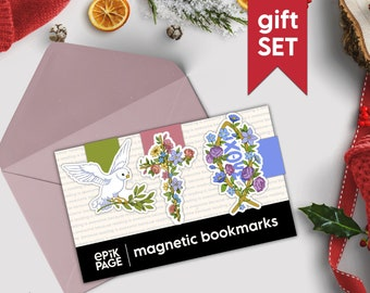 Christian gifts - Set - Magnetic bookmarks || christian gifts for women, christian planner, bible accessories, faith cross, christmas gift