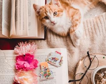 I Love Reading- Magnetic bookmarks || kawaii stationary, book lover gift, planner bookmark, teacher gift, korean stationery, bookstagram