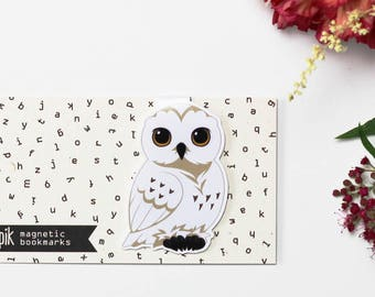 Owl - Magnetic bookmark ||  hp inspired, book lover gifts, witchcraft, magic, wizard, always, wizardry, bookmark, bookish