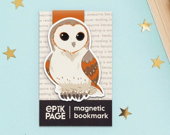 Owl - Magnetic bookmark ||  hp inspired, book lover gifts, literary gifts, owl travelors, bookish, bookstagram