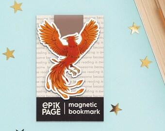 Phoenix - Magnetic bookmark || happy planner, dragon phoenix, book lover gifts, planner bookmark, phoenix bird