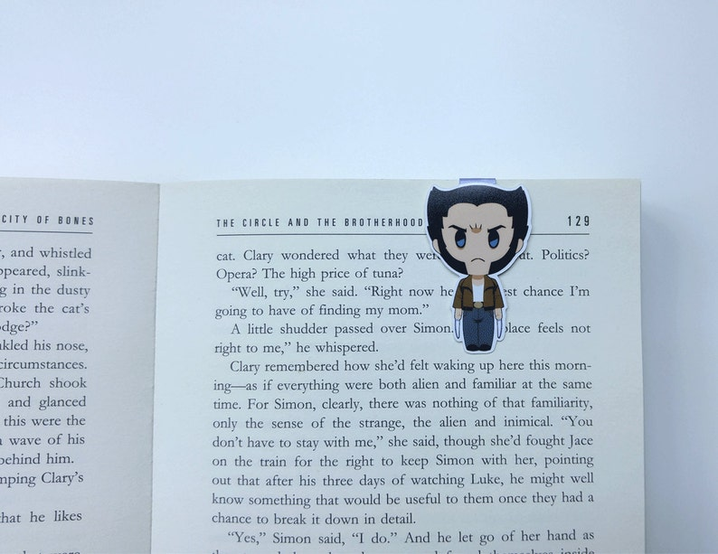 Logan - Magnetic bookmark || book lover gifts, bookmark, bookish,  bookmarks, comics, magnetic bookmarks