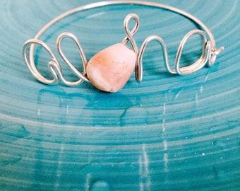 Sterling Silver Aloha Wire Word Bracelet