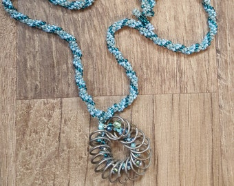 Prairie Spring Beaded Necklace.  Montana made.