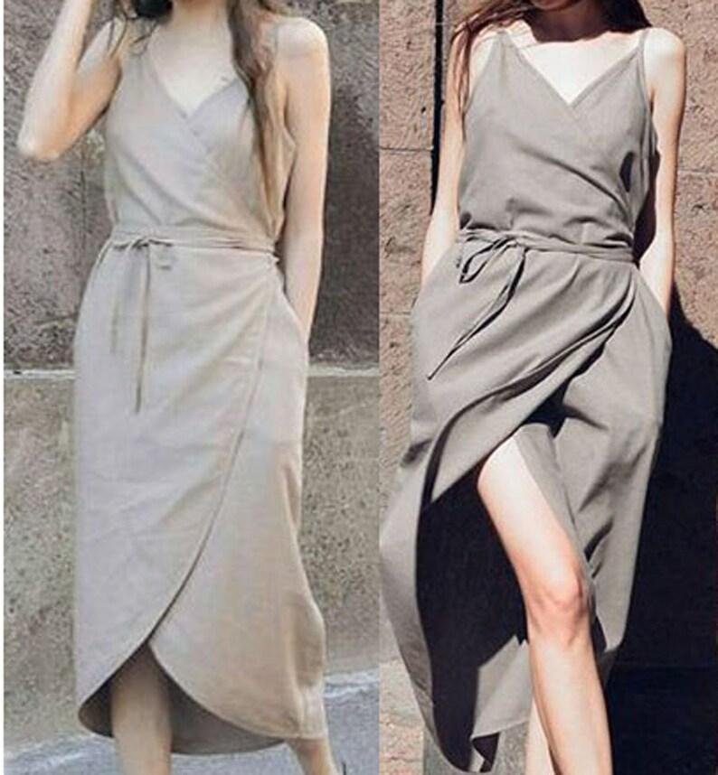 daecf978e6 Lniana sukienka Suknie luźne lniane ciążowa suknia lniana