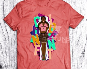 Cinda Bad Tshirt - Fortune Tee - Black Girl Magic - Confident Tee - Melanin