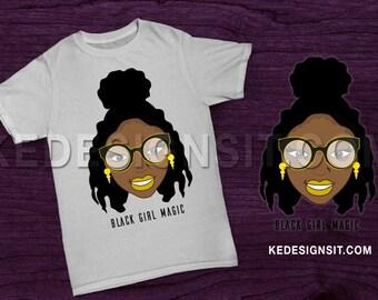 Black Girl Magic Tee - Black Art TShirts - Melanin TShirts - Black Girls Rock - African American Tee - Natural Hair TShirts - Melanin Poppin