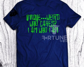 Who Cares Tshirt - Unique Weird Tee - Good Vibes - Fortune Tee